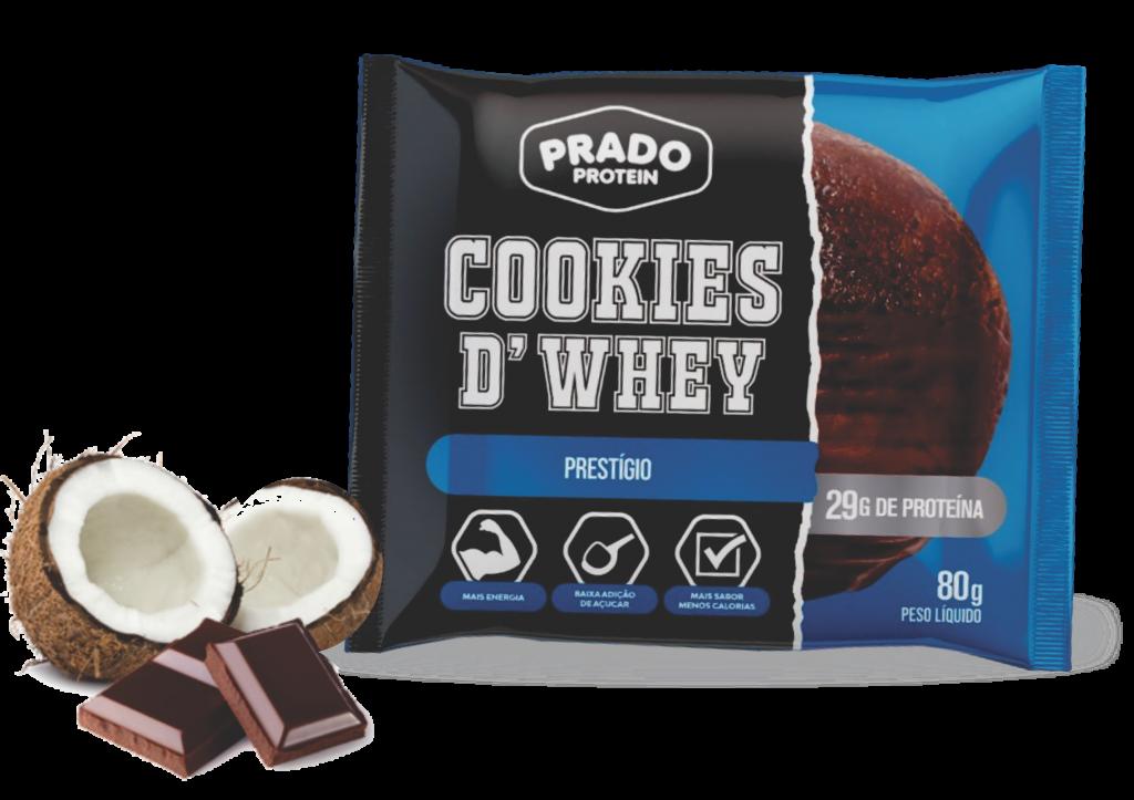 Cookie de Whey sabor Prestígio