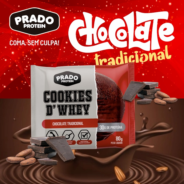 Cookie de Whey Sabor Chocolate Tradicional