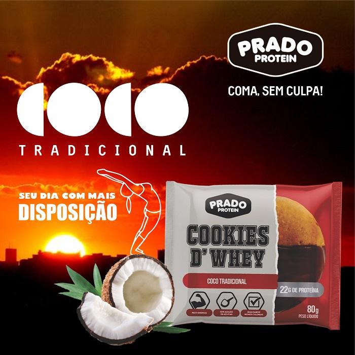Cookie de Whey Sabor Coco Tradicional